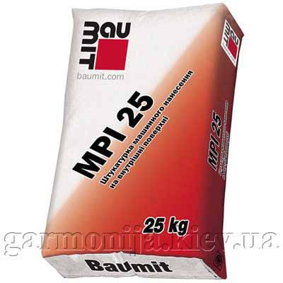 Штукатурка Baumit MPI-25 цементная, машинная, 25 кг, фото 2