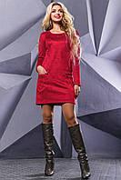 Красивое женское платье 2505 марсала-вишневая