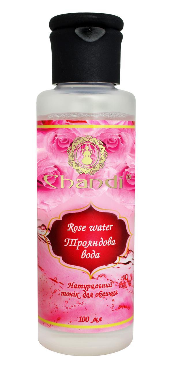 Натуральная розовая вода (Тоник для лица) Chandi, 100мл