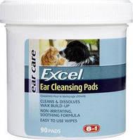 8in1 Excel Ear Cleansing Pads, 90 шт - очищающие салфетки для ушей собак и кошек