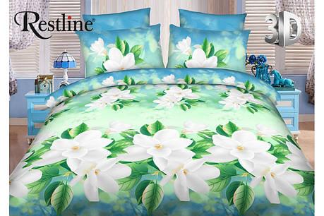 Семейный комплект постельного белья Restline 3D Весна, фото 2