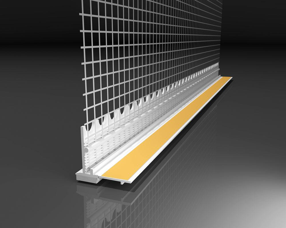 Віконний профіль з манжетою і сіткою самоклеючий для відкосів, 2,5м