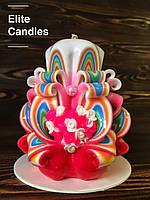 Свічка з сердечком для подарунка коханим