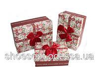 Розкішні подарункові коробки Квіти набір 3шт 17,5х12,5х6,5 см