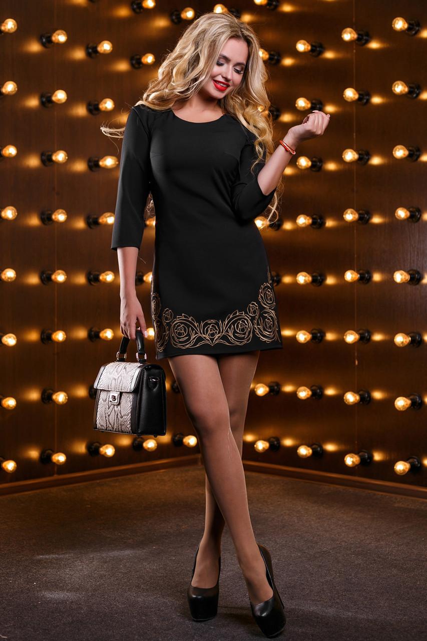 Красивое женское платье 2530 черный