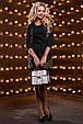 Красивое женское платье 2530 черный, фото 3