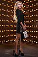 Красивое женское платье 2530 черный, фото 4