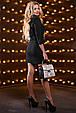 Красивое женское платье 2530 черный, фото 7