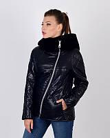 Женская куртка косуха утепленная 44-50р черная