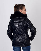 Женская куртка косуха утепленная 44-50р черная, фото 3