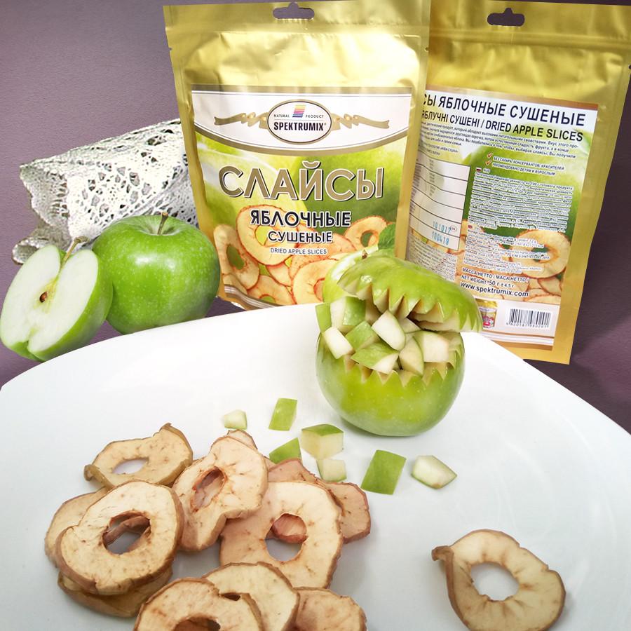 """Яблочные чипсы """"Слайсы зеленое яблоко"""" 50 г, фото 1"""