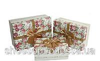 Розкішні подарункові коробки Квіти набір 3шт 17,5х12,5х6,5 см, фото 1