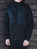 Мужская демисезонная черная куртка Staff V black and navy hab0006