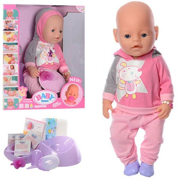 Кукла Пупс 8020-456. 42 см, 9 функций, 9 аксессуаров