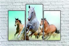 """Модульна картина"""" Три коня"""""""