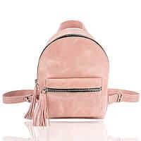 Рюкзак кожаный пудровый орландо, фото 1