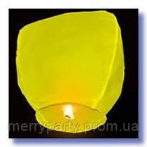 """Небесный фонарик """"Купол"""" желтый 85 см"""