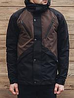 Мужская демисезонная черная куртка Staff V black and brown hab0008