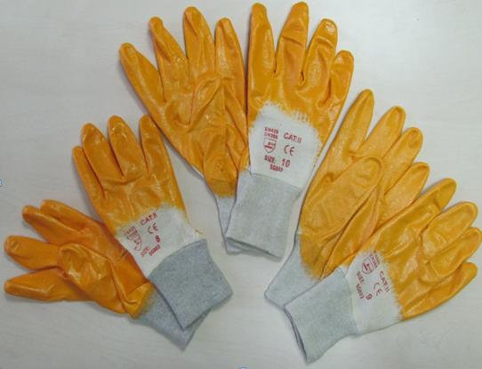 """Перчатки """"ОРАНЖЕВЫЕ НИТРИЛ"""" размер-9, PRC /0-9"""