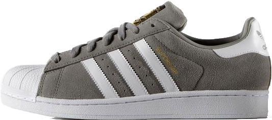 cbcd74b4 Женские кроссовки Adidas Superstar Suede Solid Grey/White - Магазин обуви с  хорошими ценами в