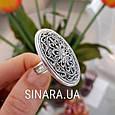 Серебряное кольцо без камней - Кольцо ажурное серебро, фото 2