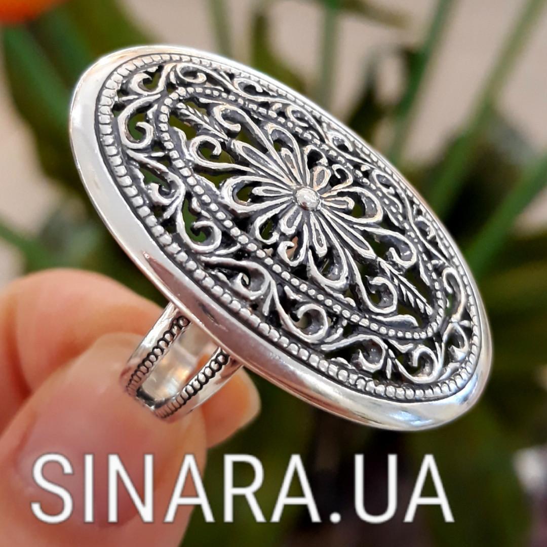 Серебряное кольцо без камней - Кольцо ажурное серебро