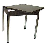 Стол обеденный раскладной Гранди 70 см х 80 см (140х80) с хромированными метал. ногами. венге