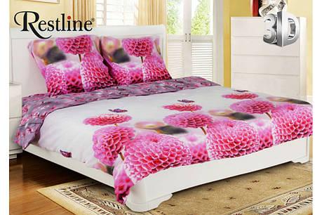 Семейный комплект постельного белья Restline 3D Жоржетта, фото 2