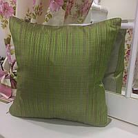 """Декоративная подушка """"Миле"""" комбинированная 45х45 мелкая полоса, наволочка на молнии, наполнитель холлофайбер, фото 1"""