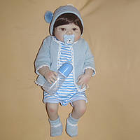Кукла реборн 57 см полностью виниловый мальчик Максимка