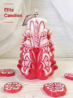 Свічка з сердечками для подарунка коханим