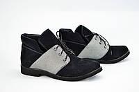 Ботинки низкие комбинированные на шнурках