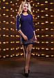 Красивое женское платье 2529 темно синий, фото 3