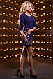 Красивое женское платье 2529 темно синий, фото 4