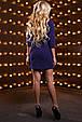 Красивое женское платье 2529 темно синий, фото 5