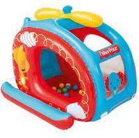 Детский надувной домик Bestway 93502 «Вертолет» ,137 х 112 х 97 см, с шариками 25 шт