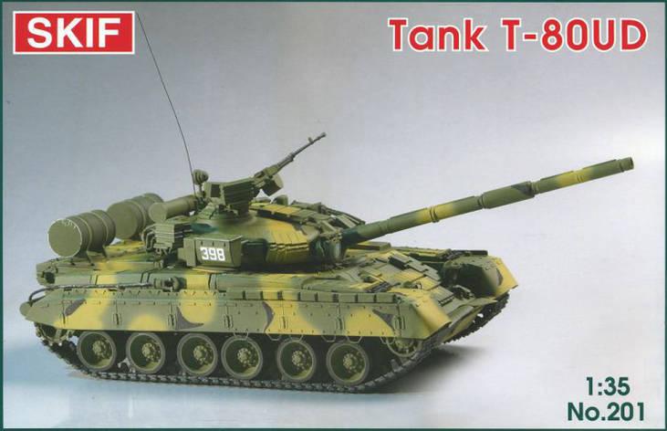 """Т-80УД """"БЕРЕЗА"""" Советский основной боевой танк. Сборная модель в масштабе 1/35. SKIF MK201, фото 2"""