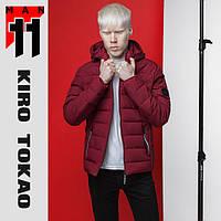 11 Kiro Tokao | Куртка весенне-осенняя мужская 4724 бордовая