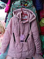 Куртка демисезонная для девочки-подростка 9-13 лет пудра цвета с капюшоном  оптом. Сертифицированная компания. f86688504170e