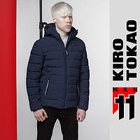 11 Kiro Tokao | Весенняя мужская куртка 4724 темно-синяя