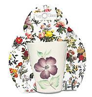 """Кружка """"Цветы"""" квадратная 300 мл (1762/1) в подарочной глянцевой упаковке в ассортименте., фото 1"""