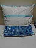 Наволочка на подушку из бязи 70*70 голубая, фото 2