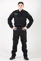 Мужской костюм Новая Полиция   черного цвета.