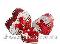 Декоративные подарочные коробки Сердце набор 3шт 22х21х9 см