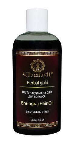 """Натуральна олія для волосся """"Брингарадж"""" Chandi, 200мл, фото 2"""