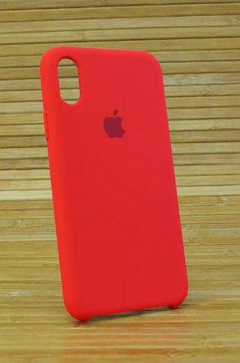 Чехол на Айфон, iPhone X Silicone Case Original COPY красный