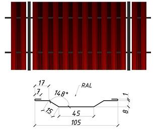 Евроштакетник (сторона Б)