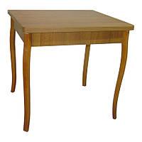 Стол обеденный раскладной Гранди 70 см х 80 см (140х80) с резными ногами из натурального дерева.орех ТМ Тавол