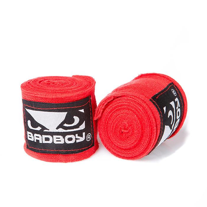 Бинт боксерский 3м, BadBoy, пара, синий, красный, черный