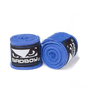 Бинт боксерский 3м, BadBoy, пара, синий, красный, черный, фото 2